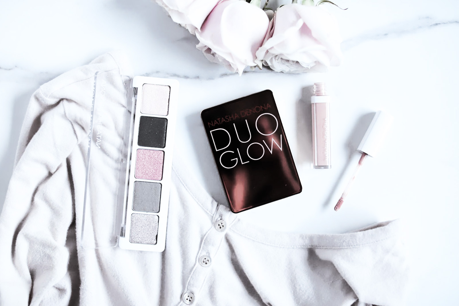 natasha denona lip glaze 18 flesh eyeshedow palette 5 duo glow blush 02 rayo avis test swatch swatches