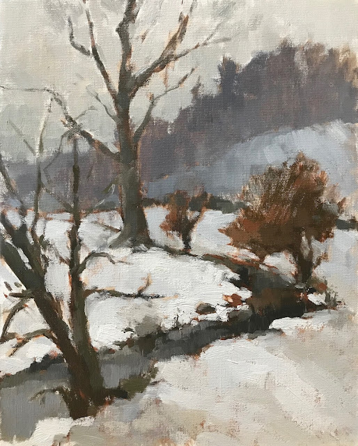 #438 'Chilly Brook' 24x30cm