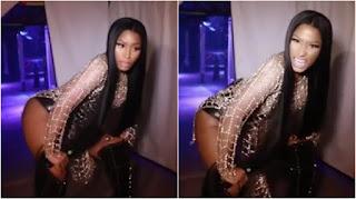 Nicki Minaj's twerking video backstage at Drake's gig