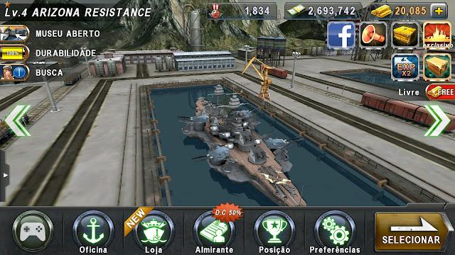 WARSHIP BATTLE:3D World War II 1.1.4 para 2.1.4 MOD
