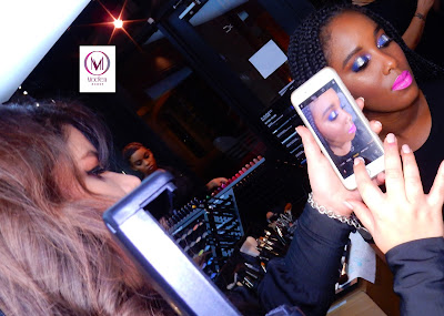 M.A.C Regional Trainer Mafe and model - www.modenmakeup.com