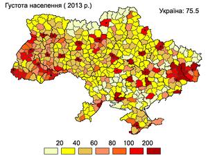 Népsűrűség Ukrajnában Wikipédia