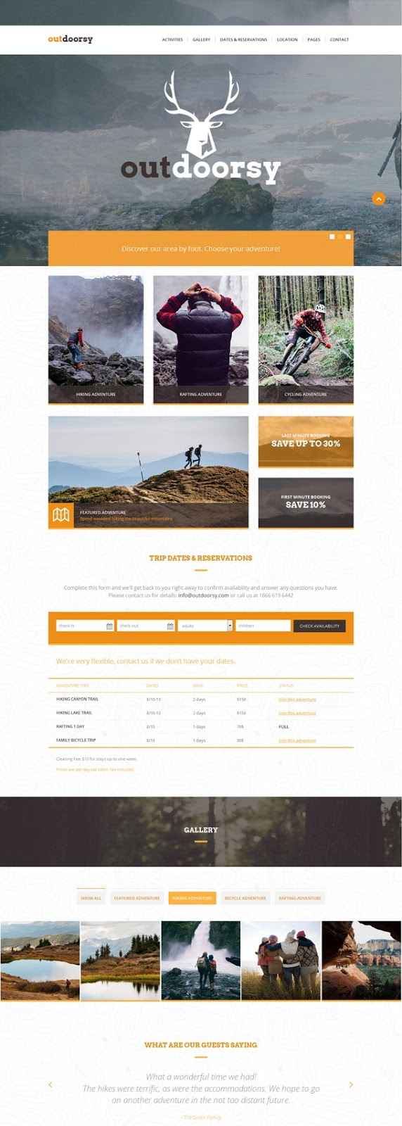 Adventure Tours and Travel HTML Template