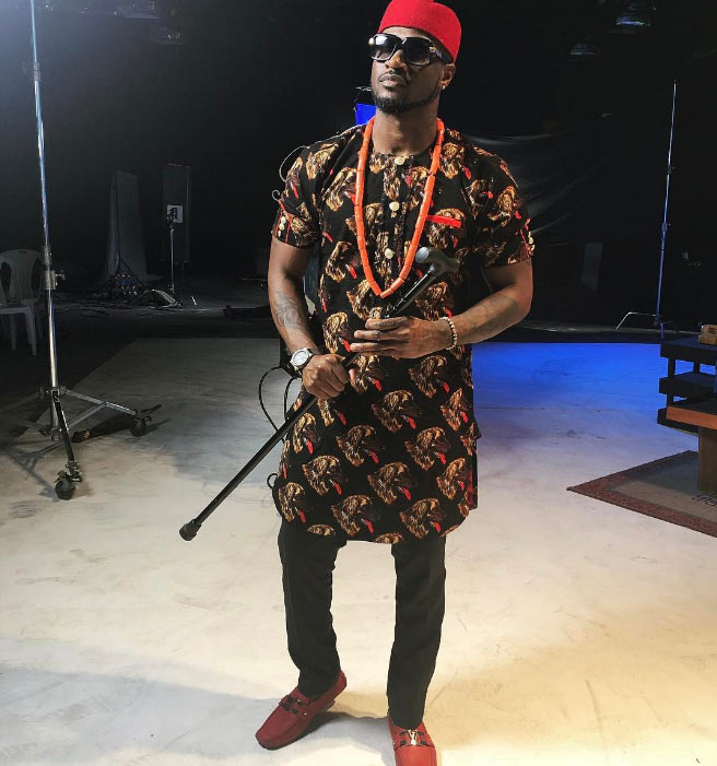 Peter Okoye looks all handsome as he steps out in native outfit