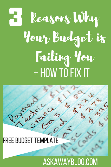 3 Reasons Why Your Budget is Failing You [+ How To Fix It]
