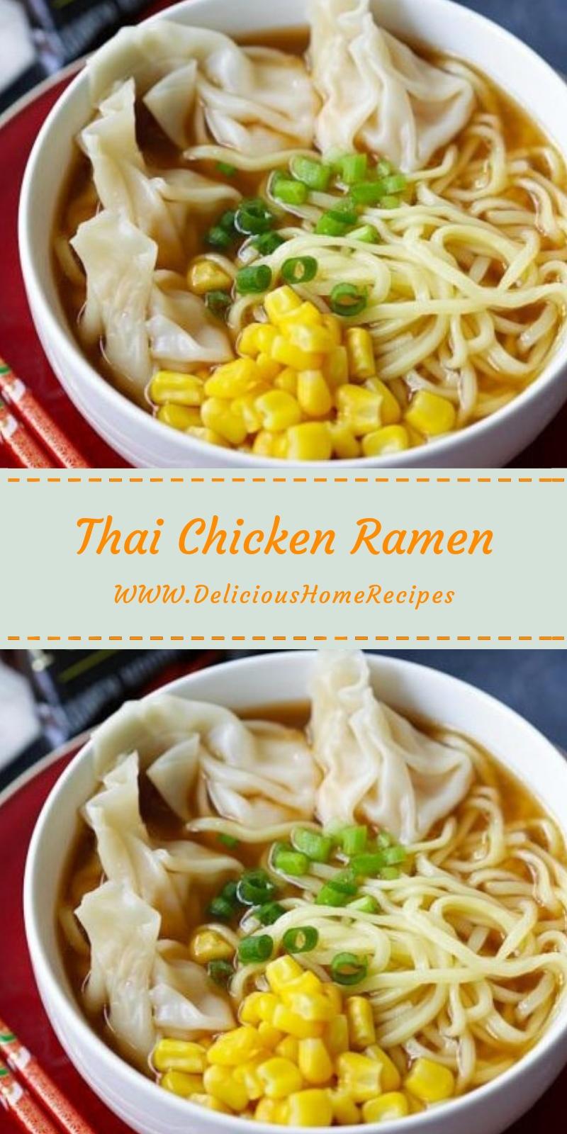 Thai Chicken Ramen #christmas #lunch