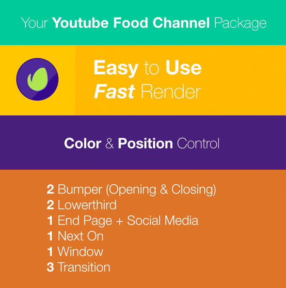 Youtube food channel package by vismovtv videohive youtube food channel package after effects template ideal for youtube channel id youtube intro youtube channel promotion youtube show vlog blog forumfinder Choice Image