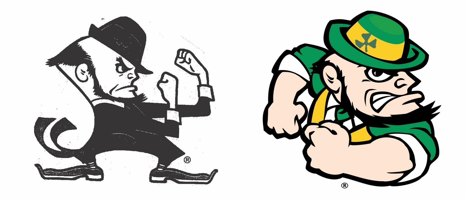 Eric Johnson Draws: Notre Dame Irish Logo