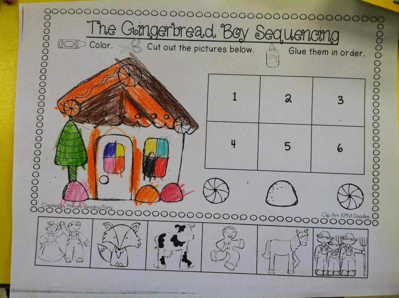 Gingerbread Boy Sequencing