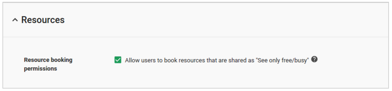 G Suite Updates Blog: Book resources that are shared as 'See