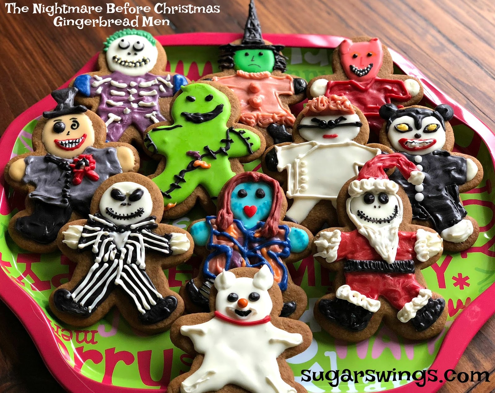 the nightmare before christmas gingerbread men cookies - Christmas Gingerbread Man