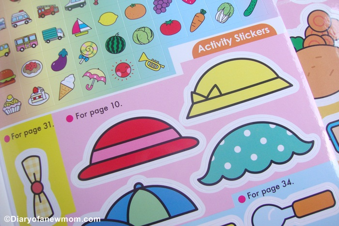 Some activities are with stickers.These stickers are of high quality and with attractive and colourful designs which make kids happy.
