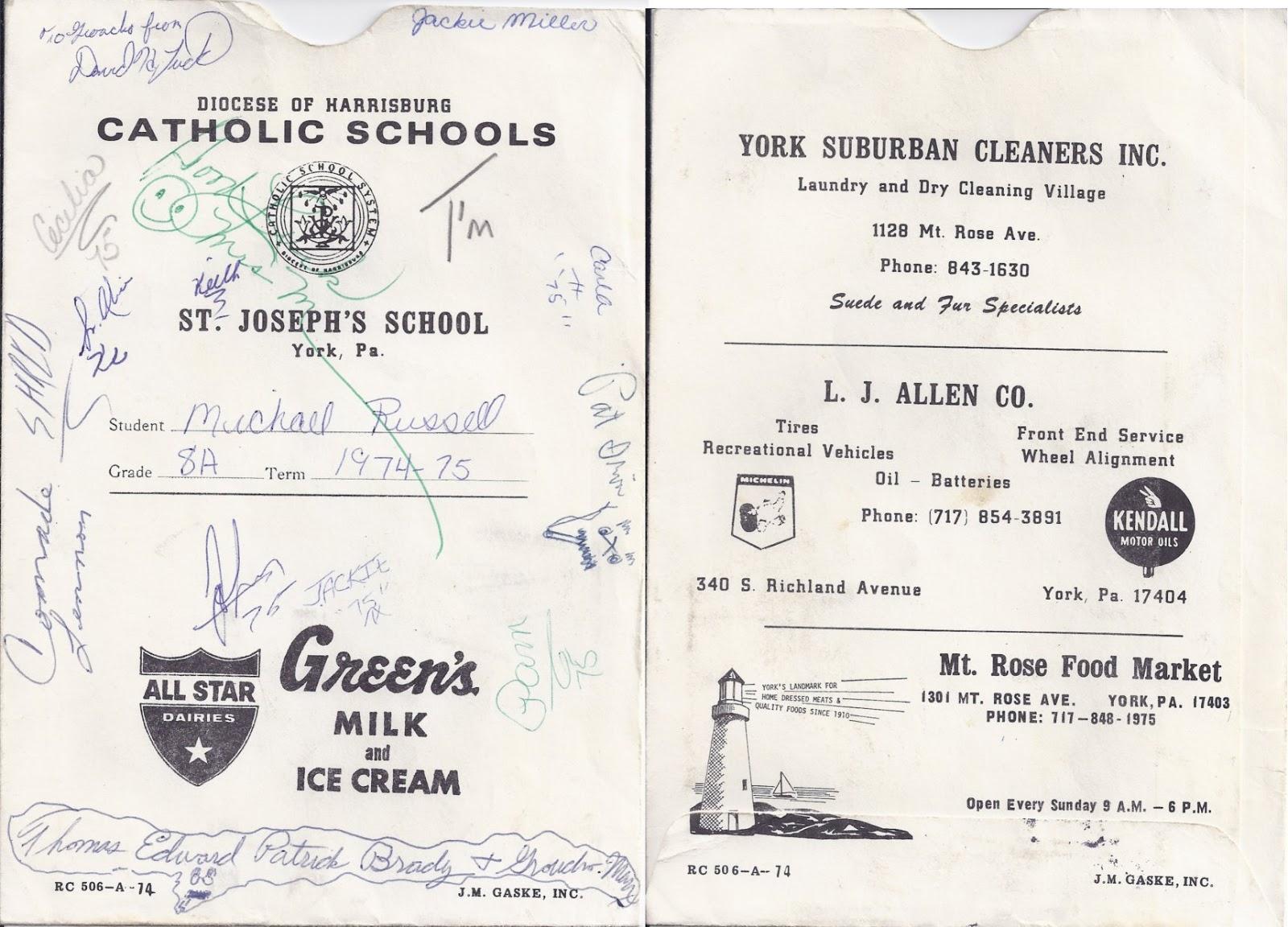 scenic root memories of york pa report cards