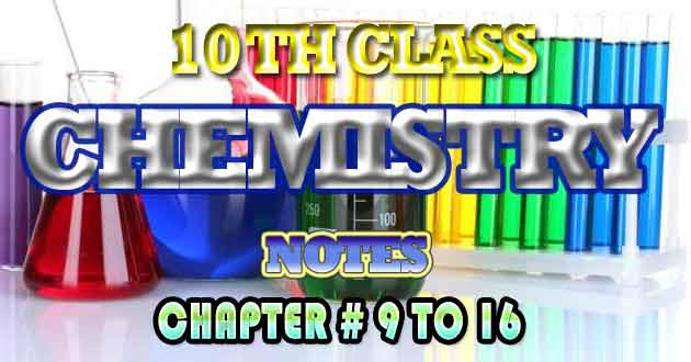 10th Class Chemistry Notes All Chapters Free Downlaod