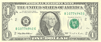 Picture of one dollar bill