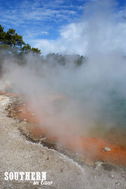 The Champagne Pool at Wai-O-Tapu Thermal Wonderland New Zealand