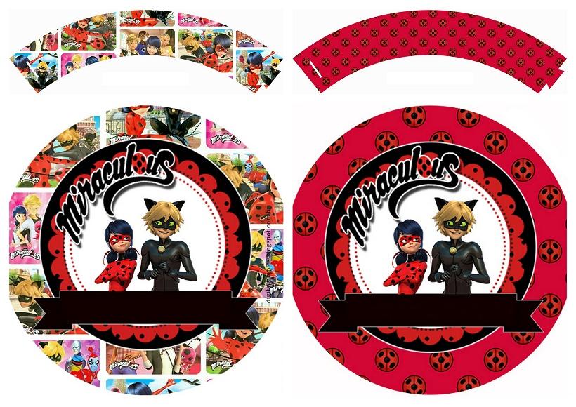 Miraculous Ladybug: Free Printable Cupcake Toppers and ...