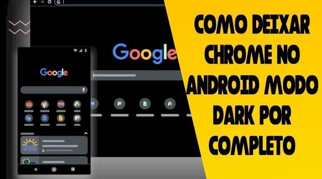 Como ativar modo dark por completo-Chrome android