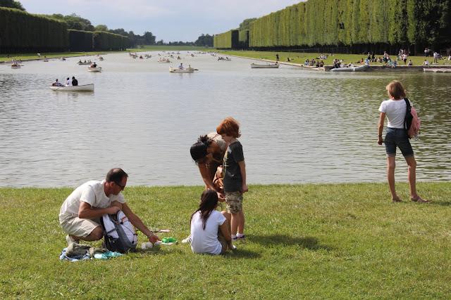 法國巴黎凡爾賽宮花園-運河