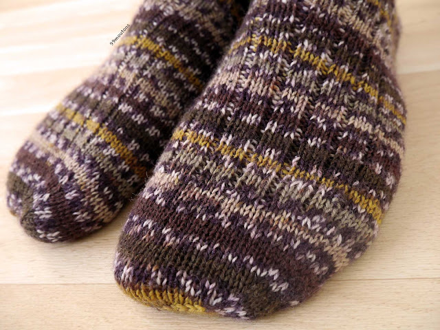 zoom orteils chaussettes tricot