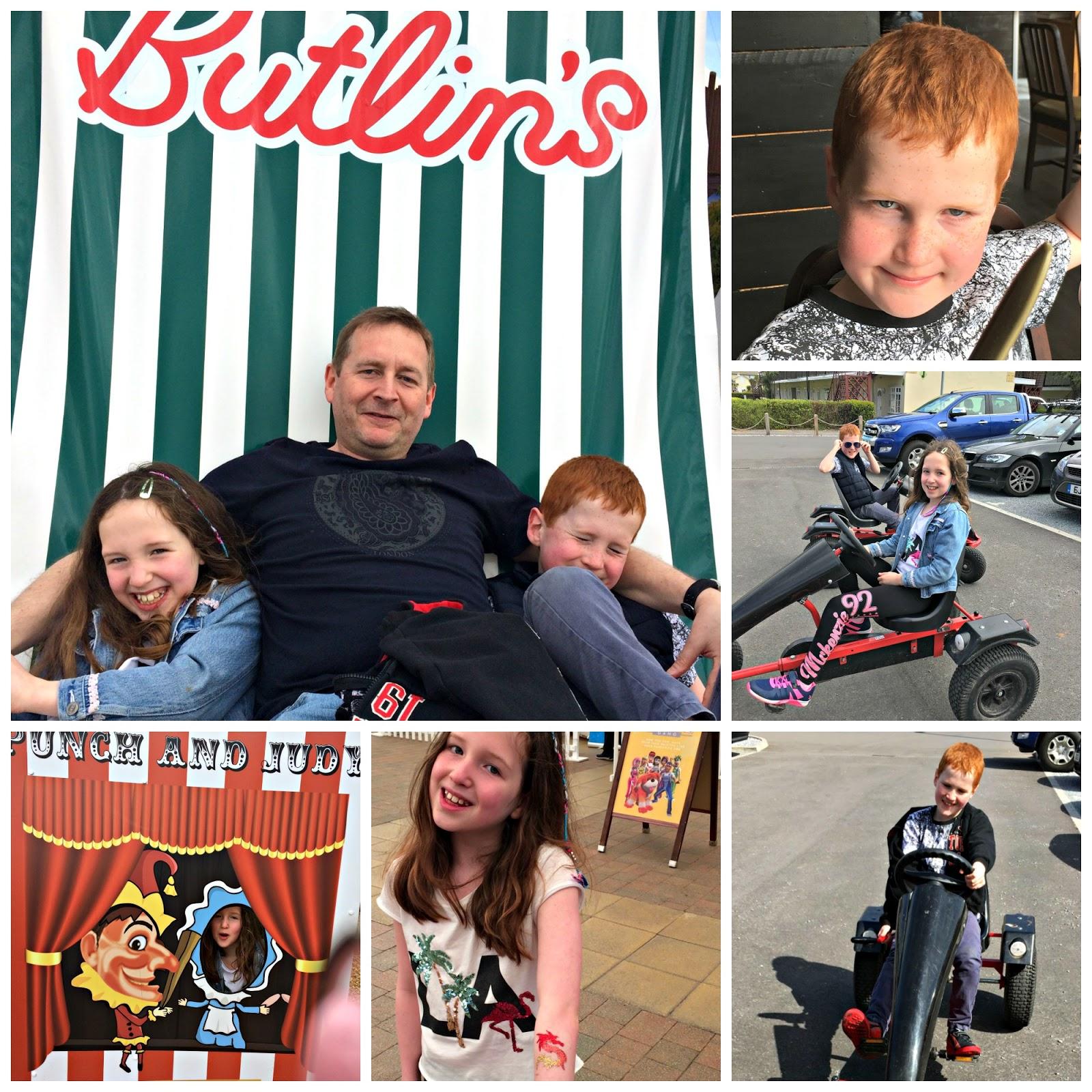 Caitlin, Ieuan and Mathew Hobbis at Butlins Minehead
