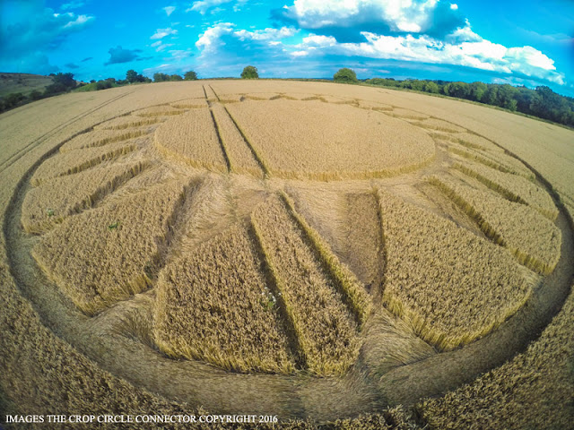 Crop Circle at Cley Hill, Wiltshire 2016 alien ufo