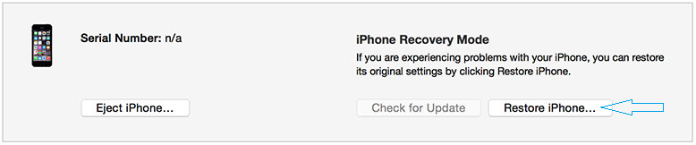 Restore iPhone Recovery Mode