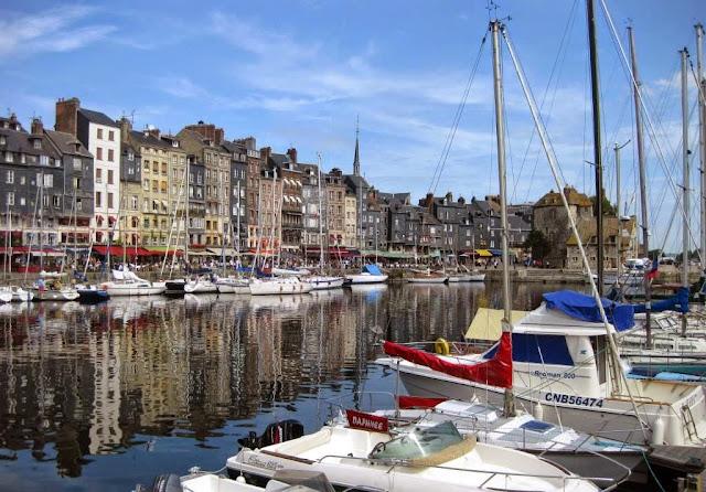 Honfleur, Normandie, Haventje Honfleur, Seinemonding