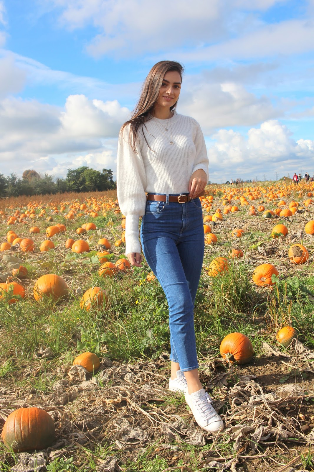 fall outfit pumpkin patch peexo blogger
