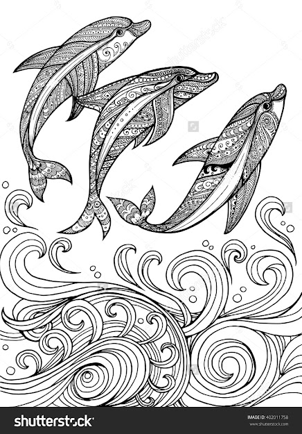 Dolphin Zentangle  Google Search Zentangle Drawingszentangle  Patternsadult Coloring Pagesdolphin
