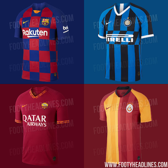 Update  The first four Nike 19-20 home kits have been leaked  Barcelona 6c4f70924