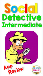 Social Detective Intermediate App Review by Speech Sprouts www.speechsproutstherapy.com
