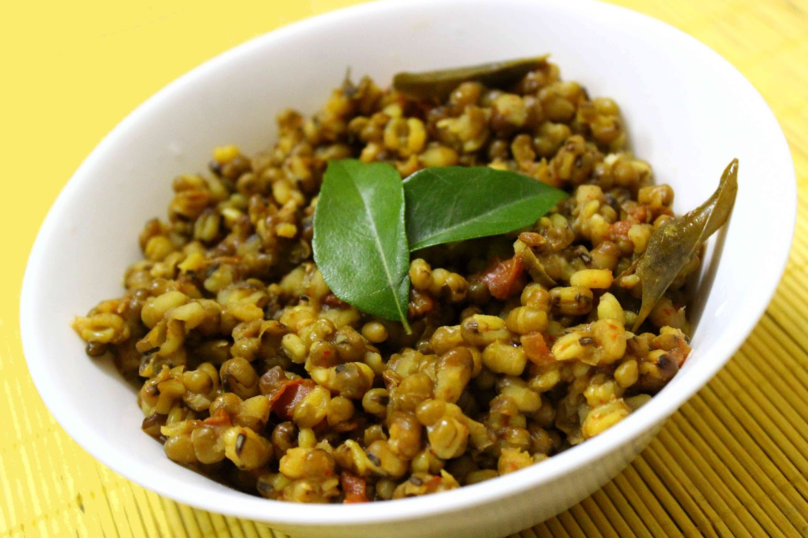 spicy mung bean curry