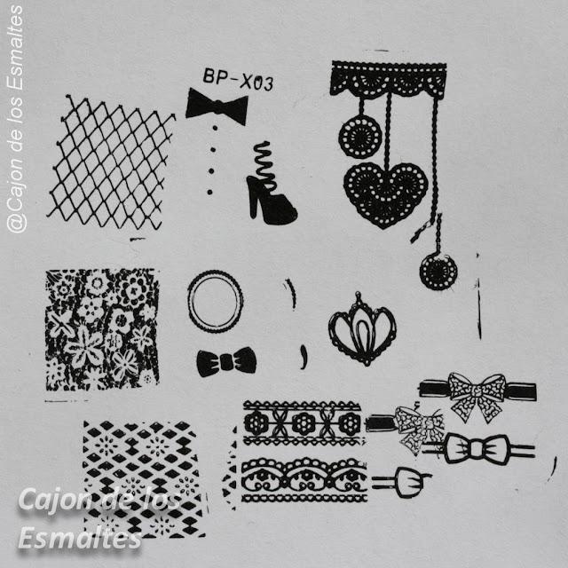 Placa BP-X03 - Diseños de encaje