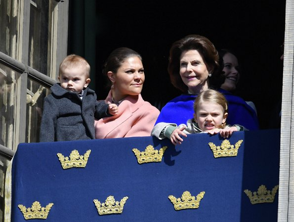 Queen Silvia, Crown Princess Victoria, Princess Estelle, Prince Oscar,  Prince Daniel, Prince Carl Philip and Princess Sofia, Princess Madeleine Birthday