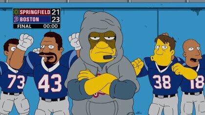 Los Simpson predijeron el medio tiempo del superbowl en el 2012