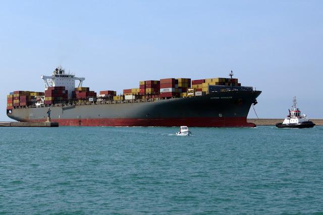 Container ship Astrid Schulte, IMO 9398230, port of Livorno