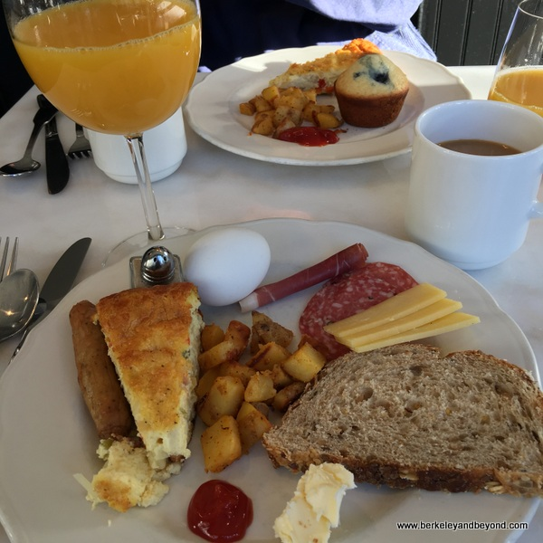 breakfast at The Hideaway in Carmel, California