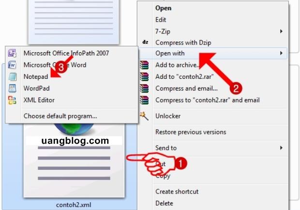 Langkah-Langkah Membuka File XML