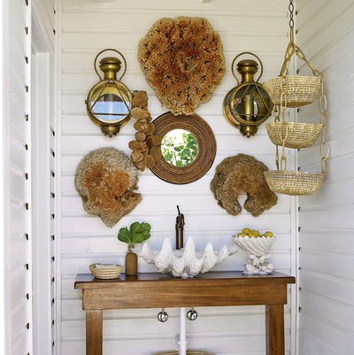 Used As A Sink In A Casual, Nautical Inspired Powder Room.