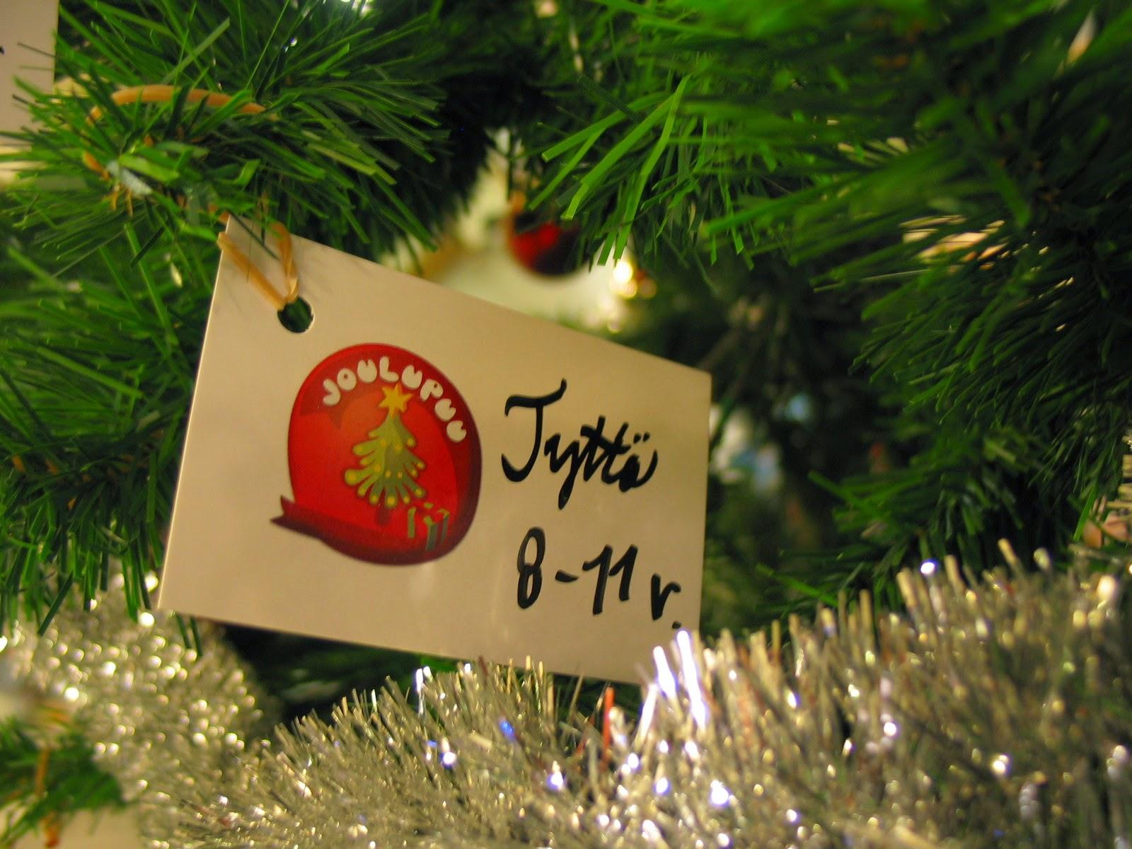 joululahjoja köyhille lapsille