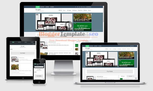 Chia sẻ template blogspot tin tức đẹp chuẩn Seo N Light Pro 6