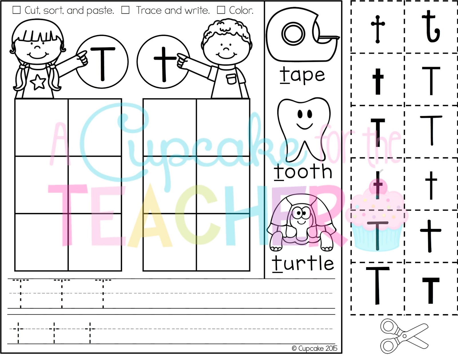 Letter Sorts A Z Printables Includes Practice Pages For