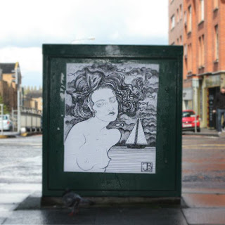 Street Art Berriblue Graffiti Paste Ups Nude Ladies Illustration