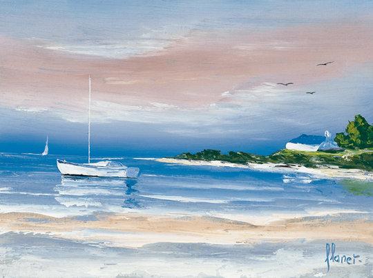 Costa - Frédéric Flanet e suas belas pinturas com paisagem de praias