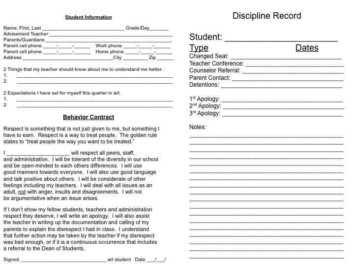 6+ Behavior Contract Templates - Free Word, PDF Format