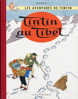 cover of Tintin au Tibet