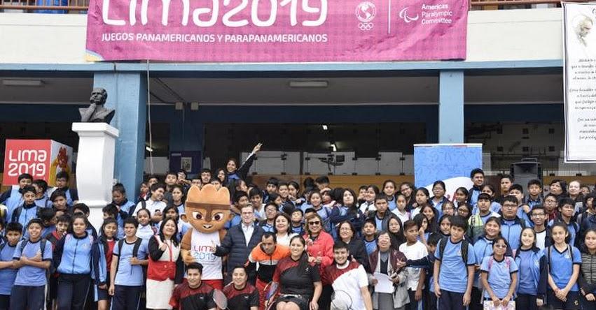 DRELM: Lima 2019 celebra a 100 días de los Juegos Parapanamericanos en colegio de La Victoria - www.drelm.gob.pe