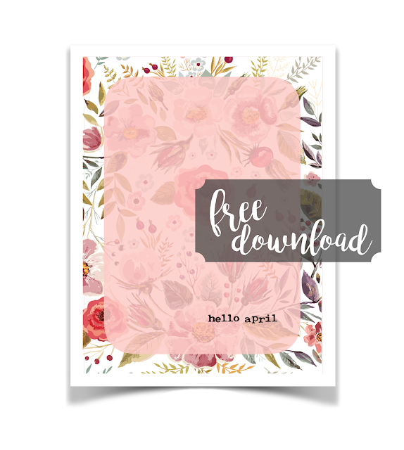 Free Hello April Journal Card