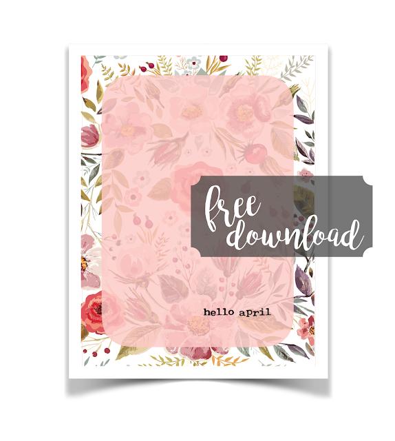 Free Hello April Journal Card